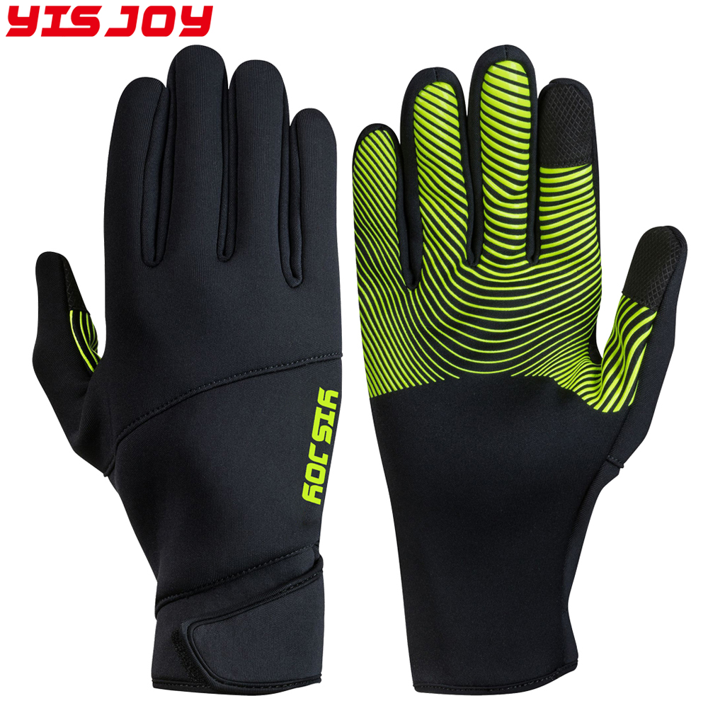 Comfortable good hand feeling jogging gloves thermal with grip