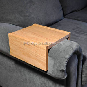 Bamboo Chair Caddy Wood Tray Couch Table Sofa Arm Table