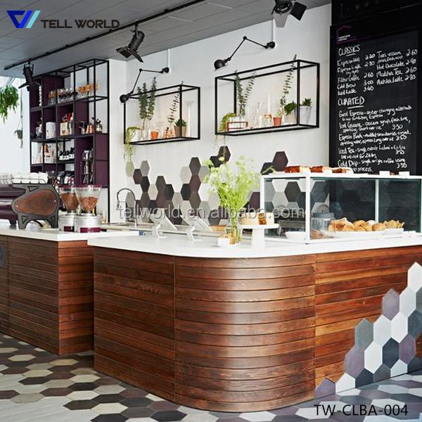Artificial Marble Bar Counter Tops Contemporary Commercial Buffet