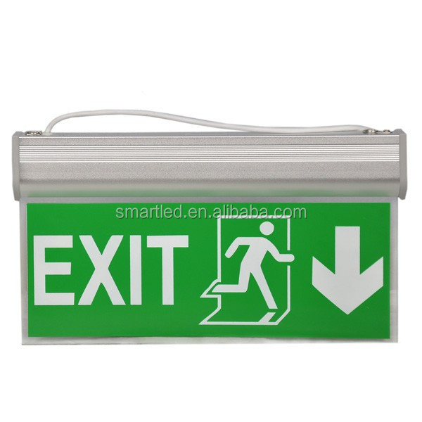 Running Man Wall Mounted Battery Backup Operated Led Exit Emergency Ceiling Light - Buy Led Exit ...