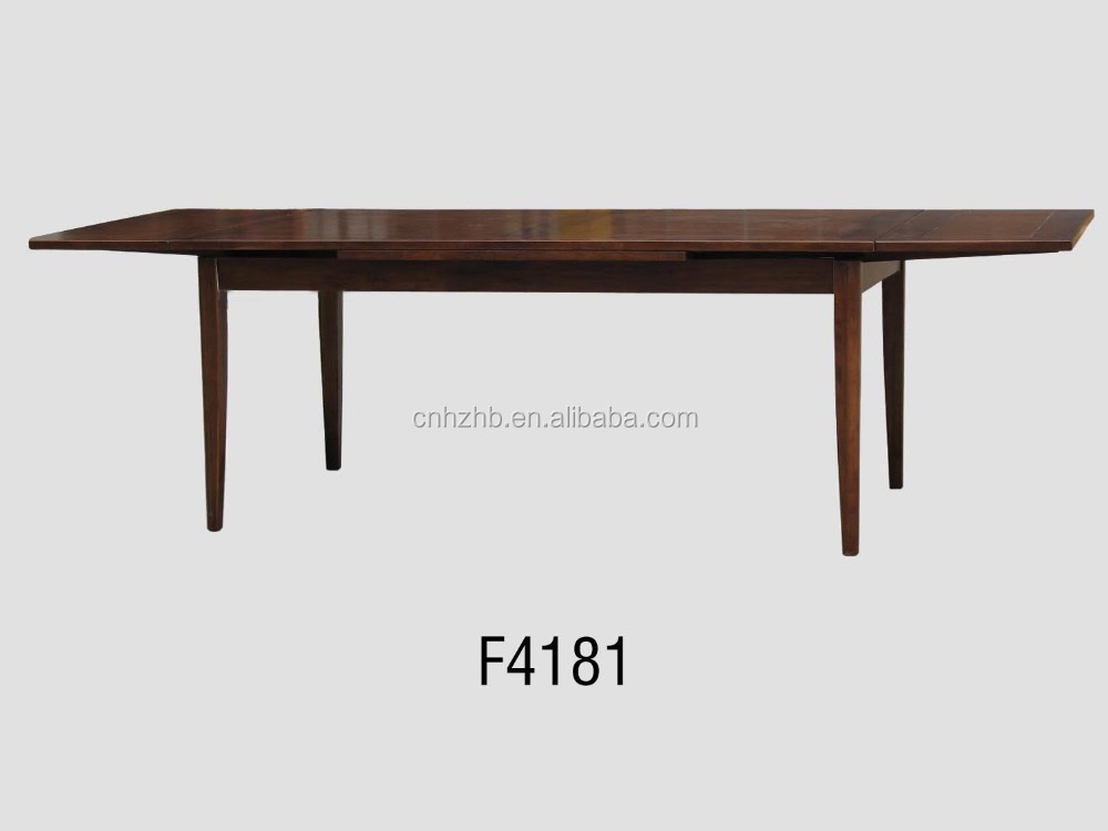 scandinavian style design furniture extendable wood/wooden dining table