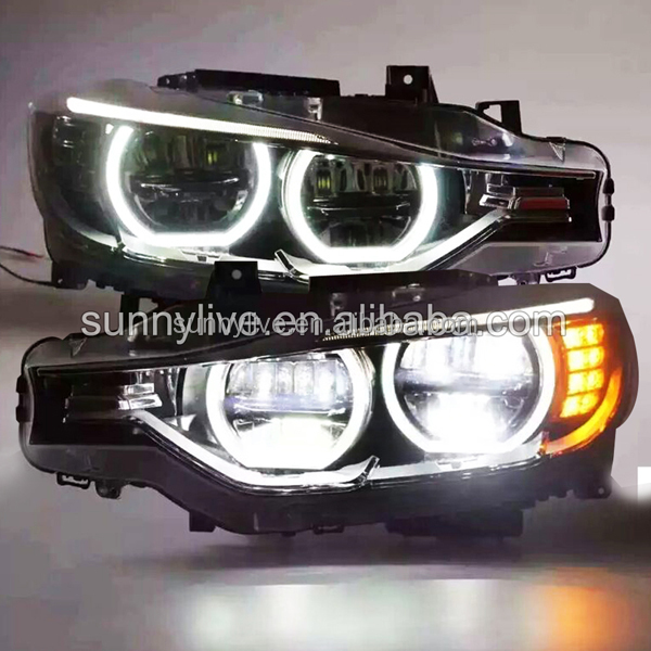 For Bmw F30 F35 318 320 325 328 330 335 Led Angel Eyes Headlight ...