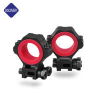 Discovery Optics 25.4/30/34mm Hunting Ring,Gun Mount, Adjustable Scope Mounts for Riflescopes