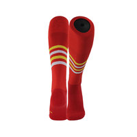 Classcial red stripe low price elite running cycling socks football socks