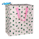Big Zipper Avocado Pink Laminated PP Woven Shopping Bag