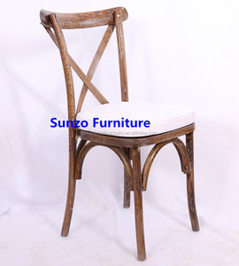 imported Oak wood x cross back hotel chairs