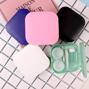 Mini Contact Lens Case Box Travel Kit Easy Carry Mirror Container