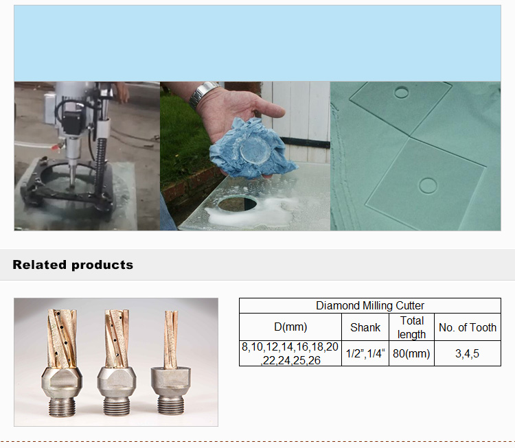 Sintered diamond drill bit for stone glass ceramic cutting