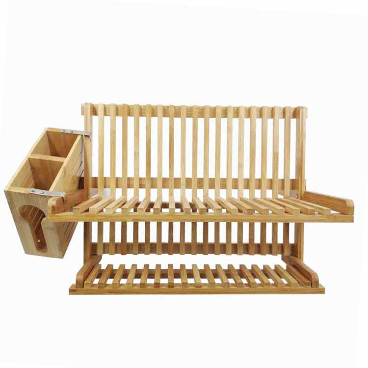 High Quality Bamboo Plate Rack