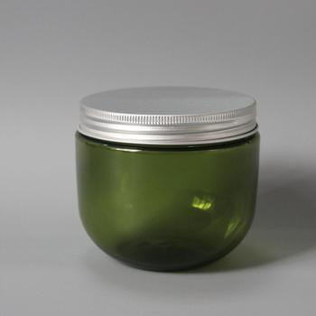 eco friendly round plastic cosmetic body scrub containers
