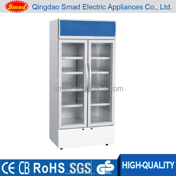 commercial upright display cooler chiller refrigerator cold drink showcase