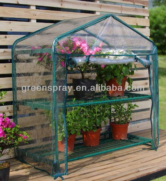 High Quality Mini Portable Green House Garden 2 Shelves
