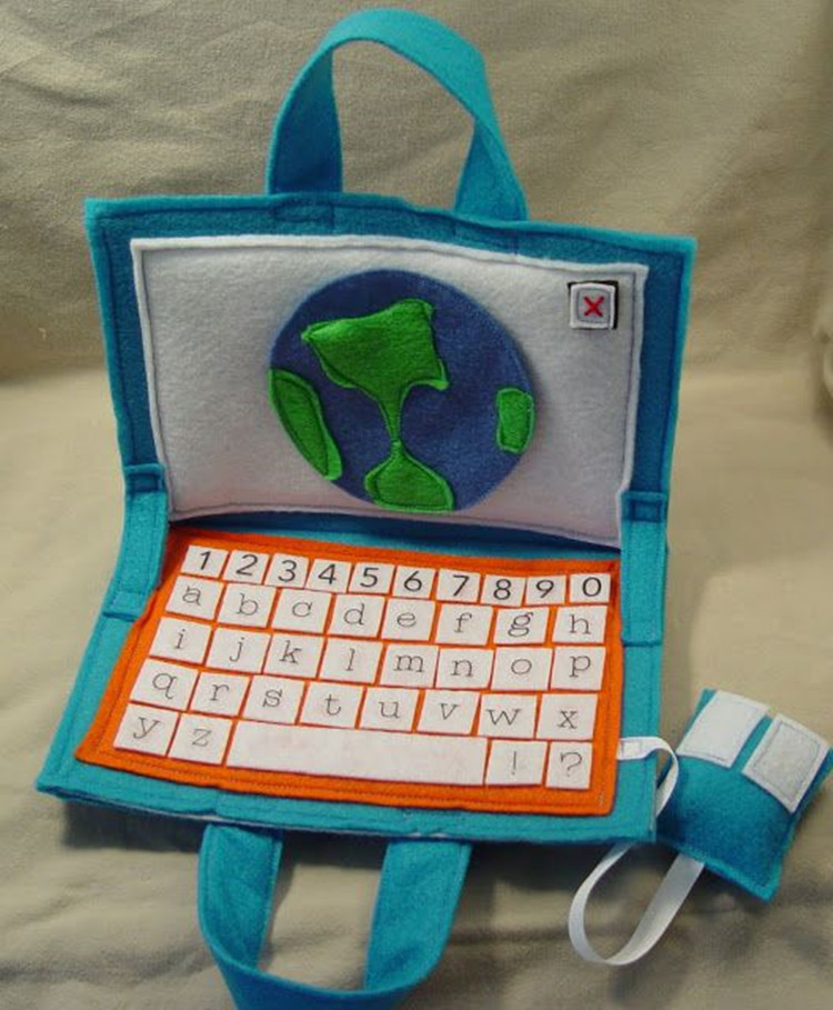 Cute Felt Child Toy Custom Diy Felt Laptop For Kid - Buy ...
