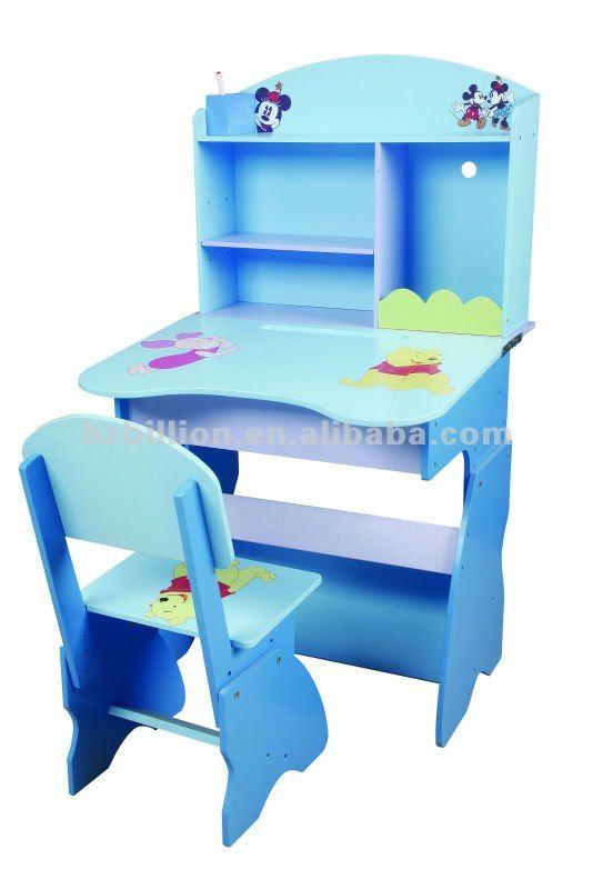 Los ni os de madera de aprendizaje de escritorio con silla for Sillas para escritorio de madera