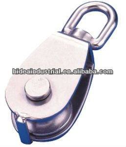 stainless steel swivel block with single wheel