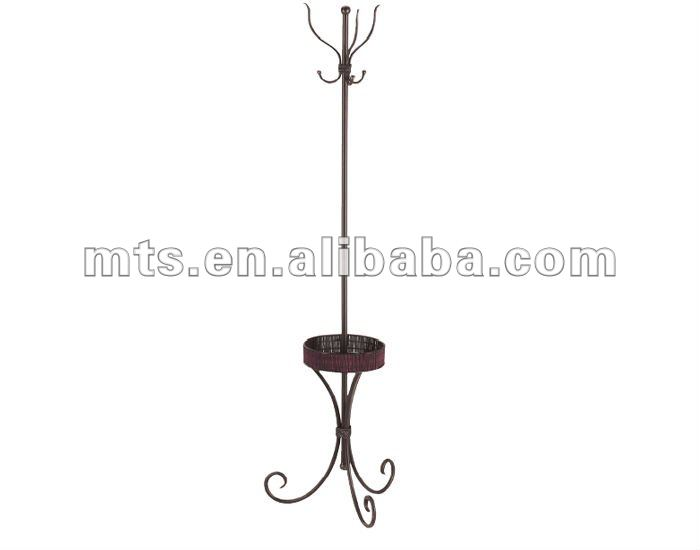 Three Curved Legs One Support Dispaly Stand With Hooks Hanging Cloth Hats