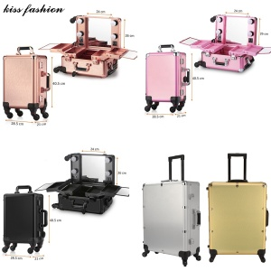 rose gold pink lighted bluetooth speaker portable beauty cosmetic storage organizer display makeup case with stand dividers