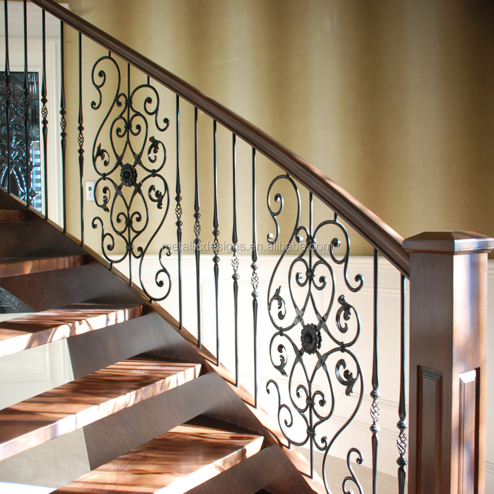 Wrought Iron Stair Spindles Metal Stair /& Decking Spindle Powder Coated Panels