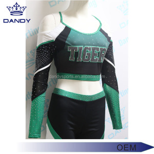 Professional custom plus size all star athletic Sport aerobics Rhinestones cheerleading uniforms wholesale price