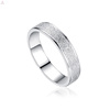 Wedding Men Jewelry Fashion Stainless Steel Silver Band Couple Engrave Ring