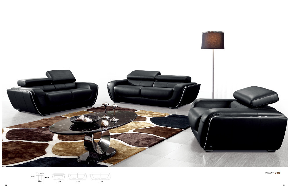 2014 latest  Sofa Design sofa modern modern living room couch with ITALIAN Leather # 955