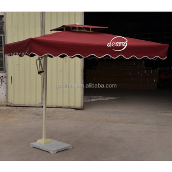 Square Side Pushed Patio Umbrella Outdoor Cheap Parasol Advertising Public  Outdoor Sun Umbrellas