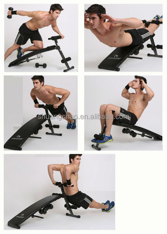 Adjustable Multi-use Sit Up Bench Weight Bench Ab Bench Black ...