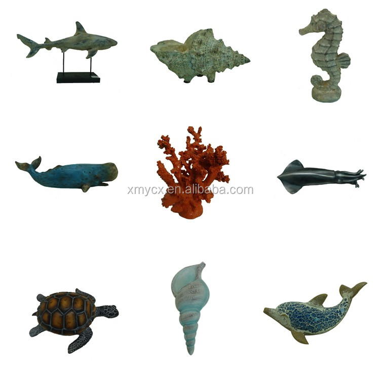 Sea crafts artificial resin aquarium seashells