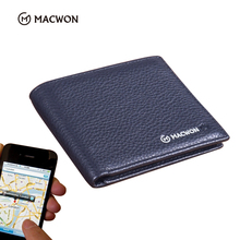 Bluetooth Anti-Perdida GPS de <span class=keywords><strong>magia</strong></span> de cuero genuino Anti-robo inteligente <span class=keywords><strong>cartera</strong></span> para hombres