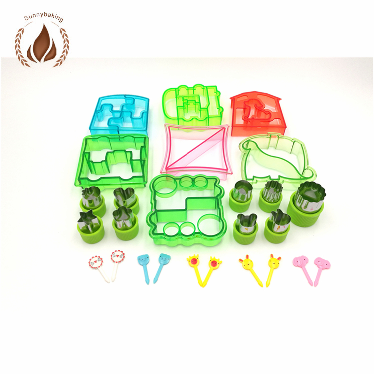 Train Máy Cắt Bánh Sandwich Bánh Sandwich Cutter Set Bánh Sandwich Cookie Cutter Set
