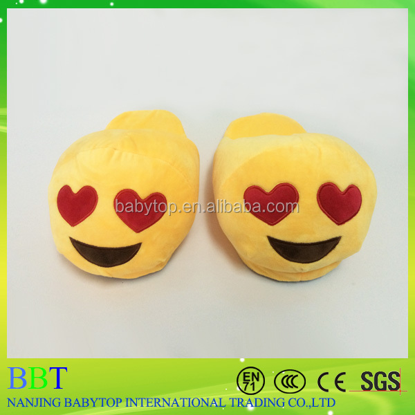 Top quality super soft plush indoor whatsapp emoji <strong>slipper</strong>