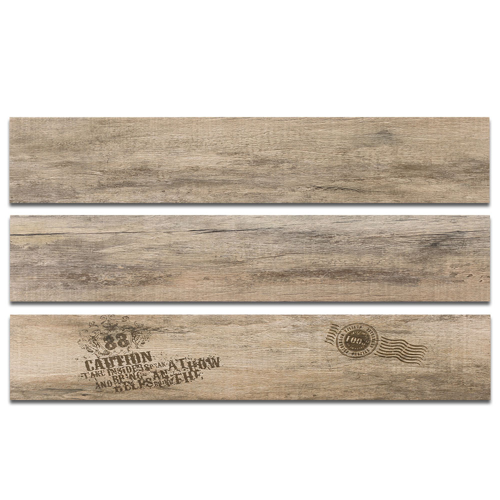 Non Slip Matte Finish Timber Look 150x800 WoodenTexture Rustic <strong>Ceramic</strong> Wood Grain Tile