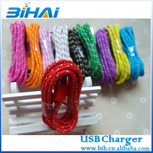 Nylon braided extension custom usb charger data cables for iphone