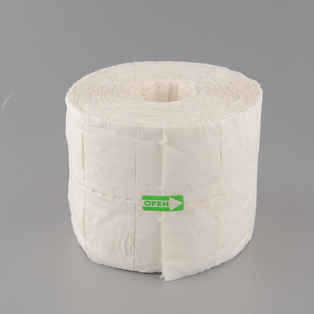 הגברת 500Pcs נייל אמנות טיפים Acyrlic אבקת פולנית דבק, מסיר Ouate תאית מנקה נגב נייר כותנה