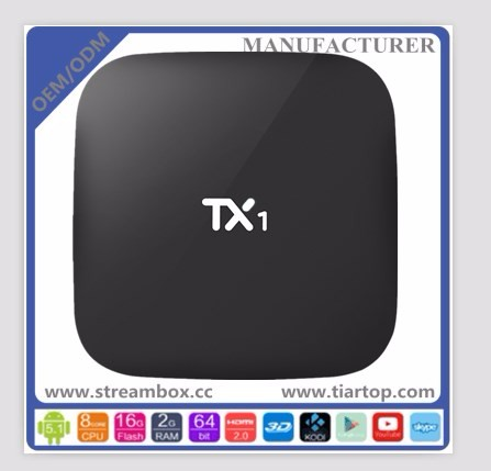 1G+8GB <strong>Amlogic</strong> S805 DLNA H.265 TX1 s905 android <strong>tv</strong> <strong>box</strong> iptv albania5.1