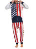 Wholesale Stars and Stripes Men Hooded Adult onesies