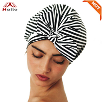 2019 New Luxury Quick-drying Double Layer Nylon Shower Cap for women
