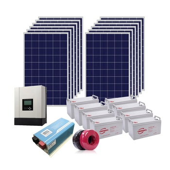 New product 6kw energy power system 6000w solar panel system solar inverter battery system for home use