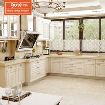European Modern Style Newly Luxury Kitchen Unit Wooden Pvc Surface