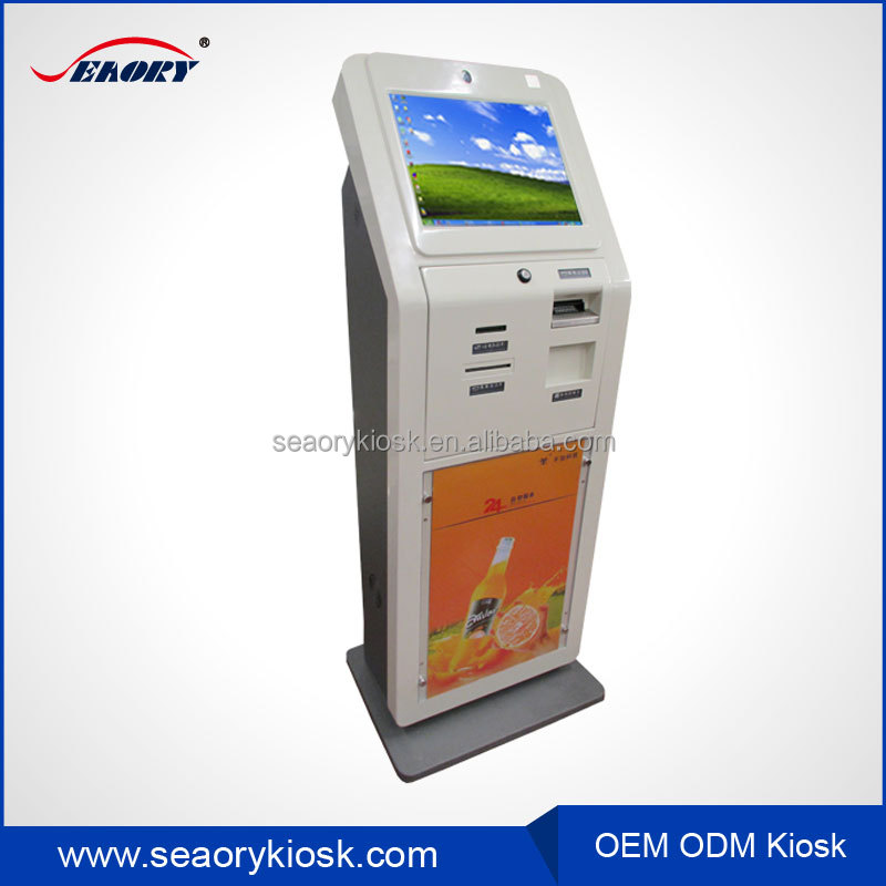 Factory custom self service hotel check in kiosk with payment function