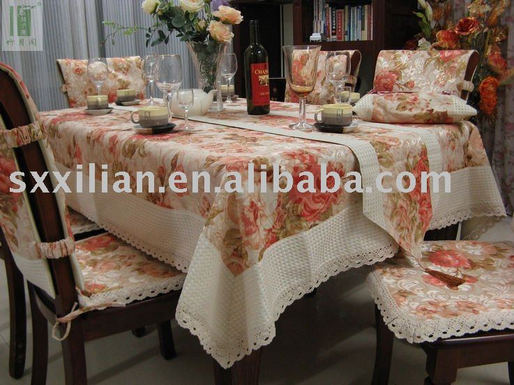 100%cotton jacquard&printing tablecloth
