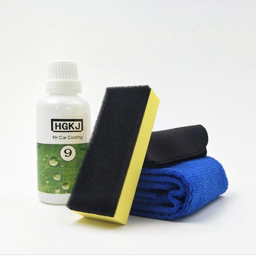 Ceramic Car Coating Set, 20ML/50ML Car Polish Liquid Coat & Sponge & Towel Anti-Scratch Exterior Care Paint 9H Hardness Gessppo (50ML)