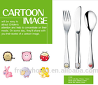 stainless steel kids cutlery set 304s.s.
