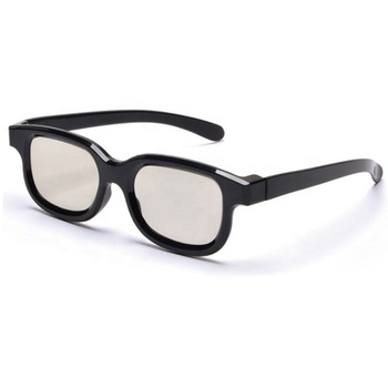 Factory Wholesale Cheap OEM Gray ABS Plastic Custom Logo Cinema Universal Real 3d Glasses for Movie