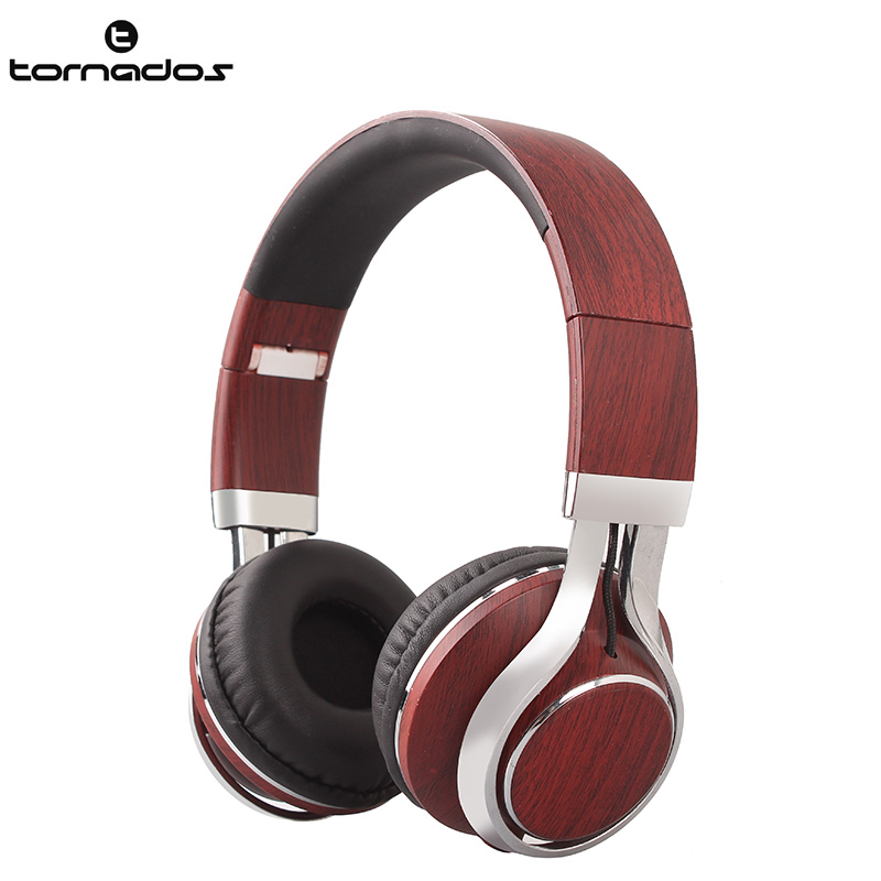 Hot brand new arrival wired shenzhen headphone factory, silent party headphones, 2016 custom sports wood headphones