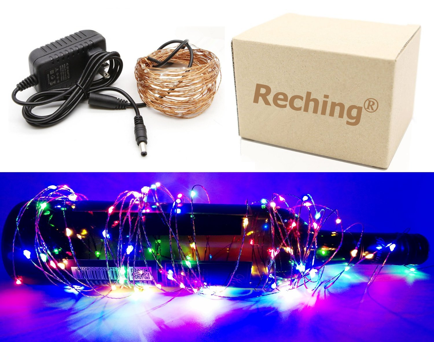 get quotations multicolor led copper wire lights xmas holiday party decor light for indoor outdoor