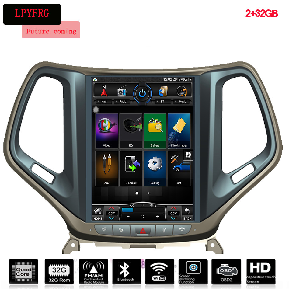 In Dash 12.1 Inch Car Stereo GPS Navigation DVD player for JEEP GRAND CHEROKEE With Bluetooth Stereo in multimedia Central Aux