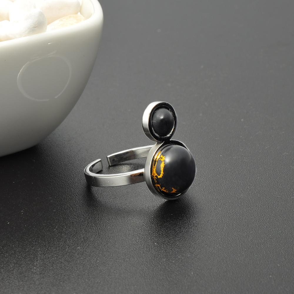 2018 Hot Selling 925 Silver Ring With Black Stone