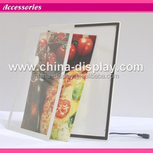 Magnetic acrylic frame desktop led lighted acrylic sign holder led table top