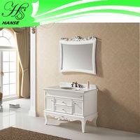 single bowl 42 antique curved bathroom vanity with mirror